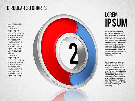 Circular 3D Charts, Slide 2, 01465, Stage Diagrams — PoweredTemplate.com