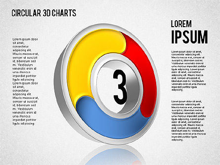 Circular 3D Charts, Slide 3, 01465, Stage Diagrams — PoweredTemplate.com