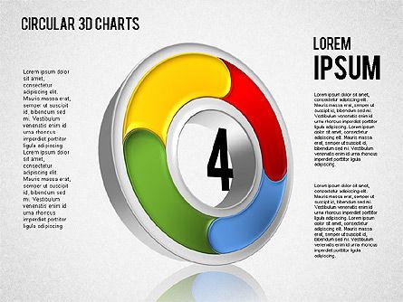 Circular 3D Charts, Slide 4, 01465, Stage Diagrams — PoweredTemplate.com