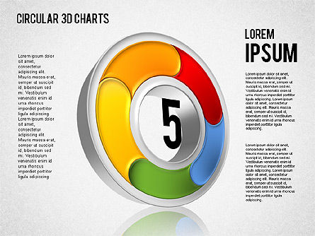 Circular 3D Charts, Slide 5, 01465, Stage Diagrams — PoweredTemplate.com