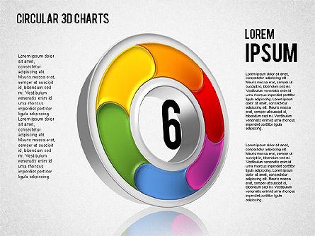 Circular 3D Charts, Slide 6, 01465, Stage Diagrams — PoweredTemplate.com