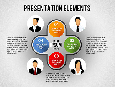 Presentation Elements, 01466, Stage Diagrams — PoweredTemplate.com