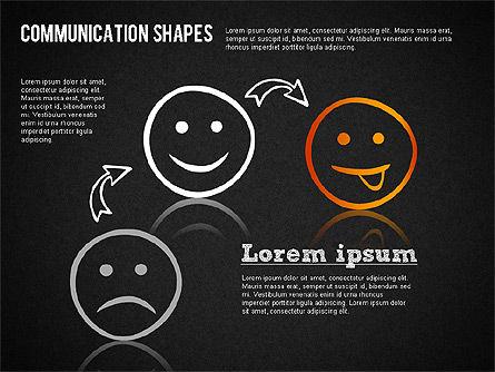 Communication Shapes Toolbox, Slide 13, 01467, Shapes — PoweredTemplate.com