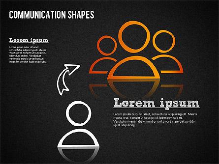 Communication Shapes Toolbox, Slide 15, 01467, Shapes — PoweredTemplate.com