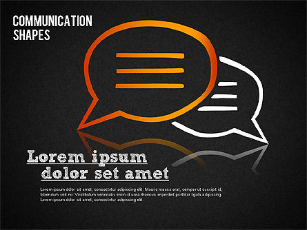 Communication Shapes Toolbox, Slide 9, 01467, Shapes — PoweredTemplate.com