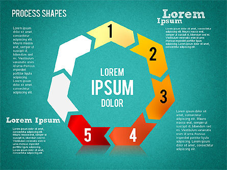 Circular Process Shapes, Slide 11, 01468, Process Diagrams — PoweredTemplate.com
