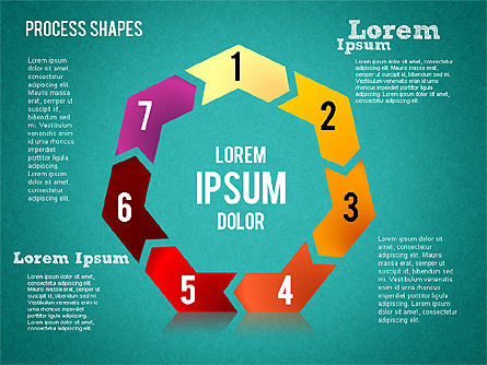 Circular Process Shapes, Slide 13, 01468, Process Diagrams — PoweredTemplate.com
