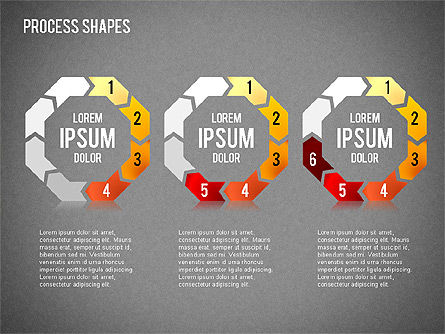 Circular Process Shapes, Slide 15, 01468, Process Diagrams — PoweredTemplate.com