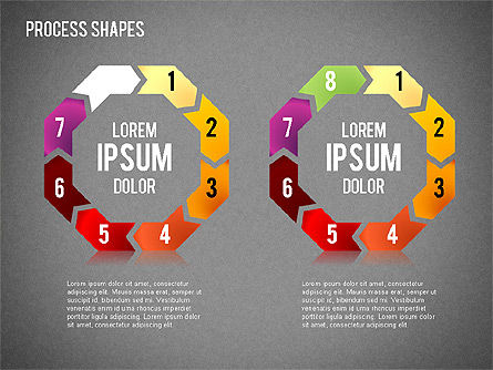 Circular Process Shapes, Slide 16, 01468, Process Diagrams — PoweredTemplate.com