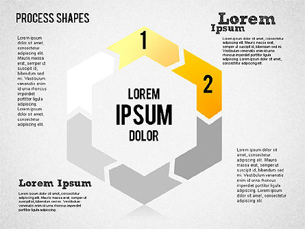 Circular Process Shapes, Slide 2, 01468, Process Diagrams — PoweredTemplate.com