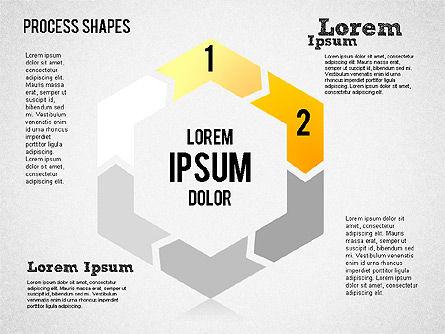 Circular Process Shapes, Slide 2, 01468, Process Diagrams — PoweredTemplate.com