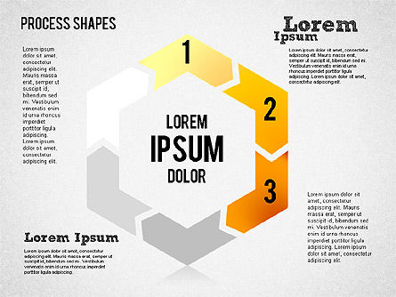 Circular Process Shapes, Slide 3, 01468, Process Diagrams — PoweredTemplate.com