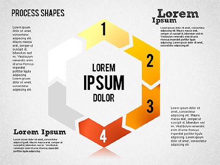 Circular Process Shapes, Slide 4, 01468, Process Diagrams — PoweredTemplate.com