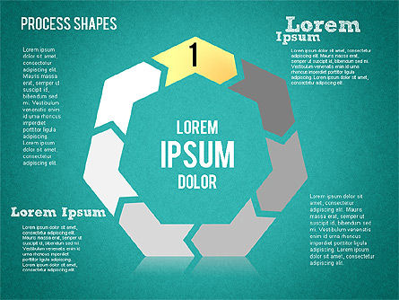Circular Process Shapes, Slide 7, 01468, Process Diagrams — PoweredTemplate.com