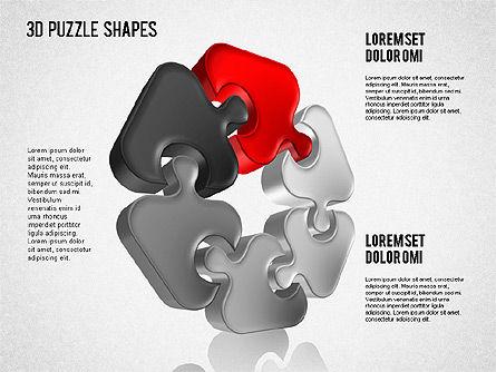 Puzzle Shapes 3D, Slide 2, 01473, Puzzle Diagrams — PoweredTemplate.com
