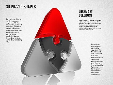 Puzzle Shapes 3D, Slide 6, 01473, Puzzle Diagrams — PoweredTemplate.com