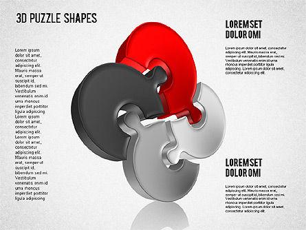 Puzzle Shapes 3D, Slide 8, 01473, Puzzle Diagrams — PoweredTemplate.com