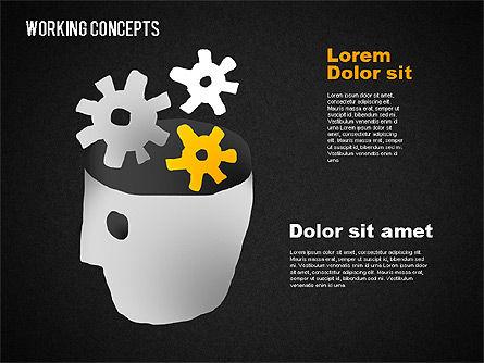 Office Work Concepts, Slide 10, 01475, Shapes — PoweredTemplate.com