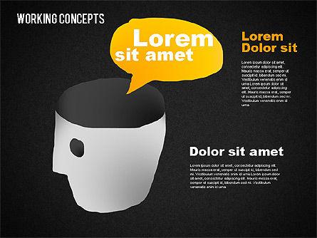 Office Work Concepts, Slide 13, 01475, Shapes — PoweredTemplate.com