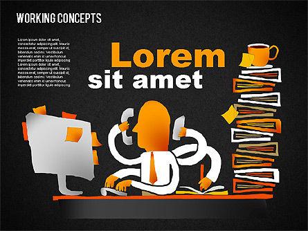 Office Work Concepts, Slide 14, 01475, Shapes — PoweredTemplate.com