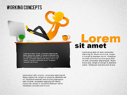 Office Work Concepts, Slide 3, 01475, Shapes — PoweredTemplate.com