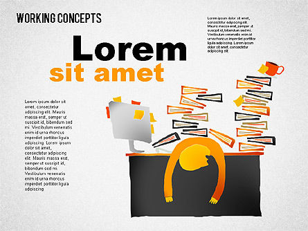 Office Work Concepts, Slide 4, 01475, Shapes — PoweredTemplate.com