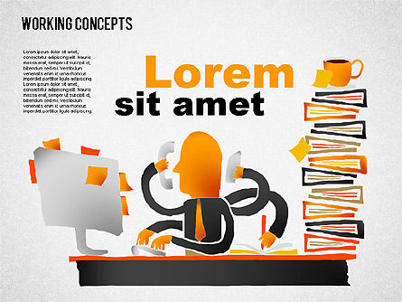 Office Work Concepts, Slide 6, 01475, Shapes — PoweredTemplate.com