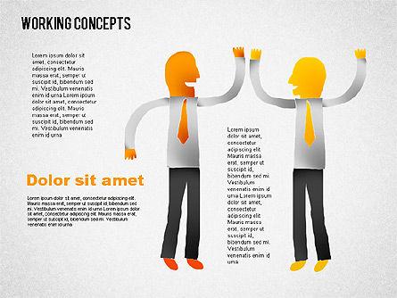 Office Work Concepts, Slide 7, 01475, Shapes — PoweredTemplate.com