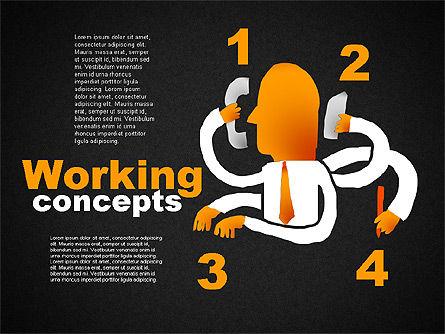 Office Work Concepts, Slide 9, 01475, Shapes — PoweredTemplate.com