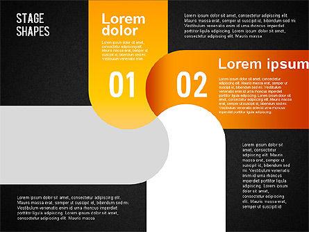 Rounded Stripe Shapes, Slide 11, 01476, Shapes — PoweredTemplate.com