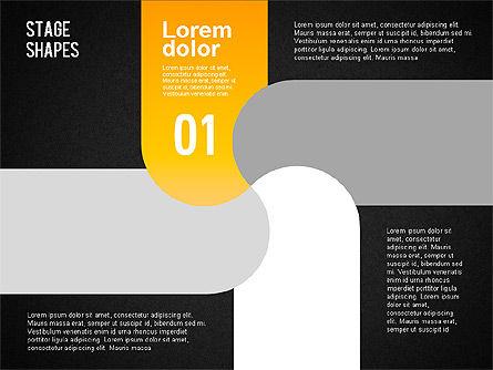 Rounded Stripe Shapes, Slide 12, 01476, Shapes — PoweredTemplate.com