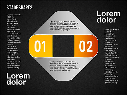 Rounded Stripe Shapes, Slide 13, 01476, Shapes — PoweredTemplate.com