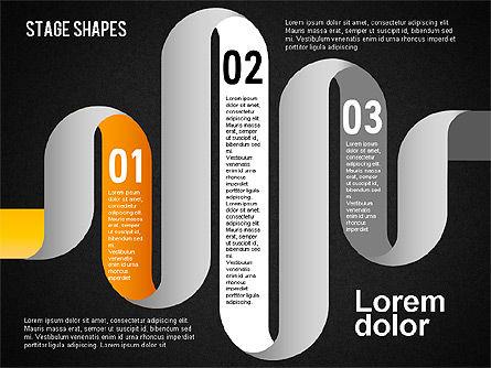 Rounded Stripe Shapes, Slide 14, 01476, Shapes — PoweredTemplate.com