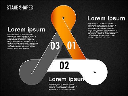 Rounded Stripe Shapes, Slide 15, 01476, Shapes — PoweredTemplate.com