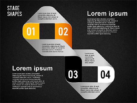 Rounded Stripe Shapes, Slide 16, 01476, Shapes — PoweredTemplate.com