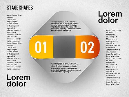 Rounded Stripe Shapes, Slide 5, 01476, Shapes — PoweredTemplate.com
