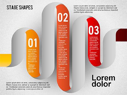 Rounded Stripe Shapes, Slide 6, 01476, Shapes — PoweredTemplate.com