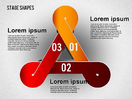 Rounded Stripe Shapes, Slide 7, 01476, Shapes — PoweredTemplate.com