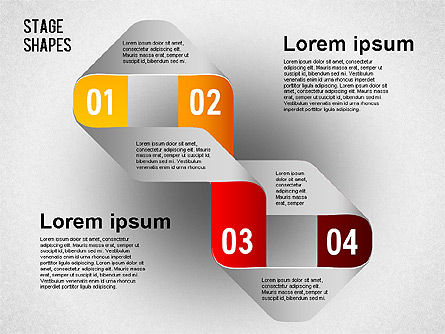 Rounded Stripe Shapes, Slide 8, 01476, Shapes — PoweredTemplate.com