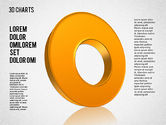 Pie Charts: 3D Pie and Donut Charts #01480