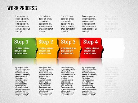 Work Process Steps, Slide 10, 01482, Process Diagrams — PoweredTemplate.com