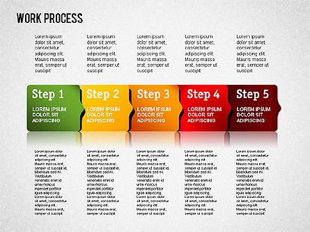 Work Process Steps, Slide 11, 01482, Process Diagrams — PoweredTemplate.com
