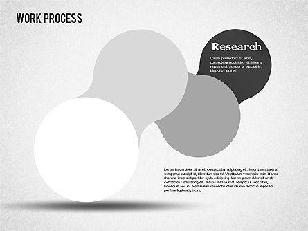 Work Process Steps, Slide 12, 01482, Process Diagrams — PoweredTemplate.com