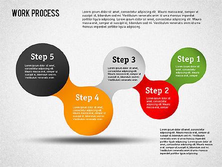Work Process Steps, Slide 16, 01482, Process Diagrams — PoweredTemplate.com