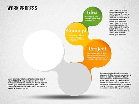Work Process Steps, Slide 4, 01482, Process Diagrams — PoweredTemplate.com