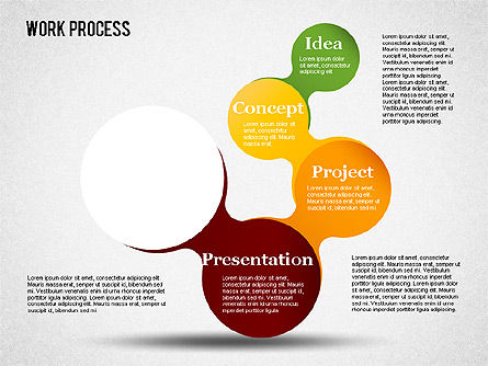 Work Process Steps, Slide 5, 01482, Process Diagrams — PoweredTemplate.com