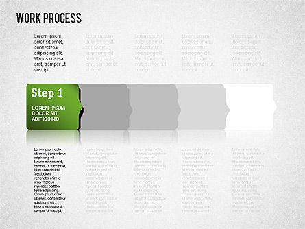 Work Process Steps, Slide 7, 01482, Process Diagrams — PoweredTemplate.com
