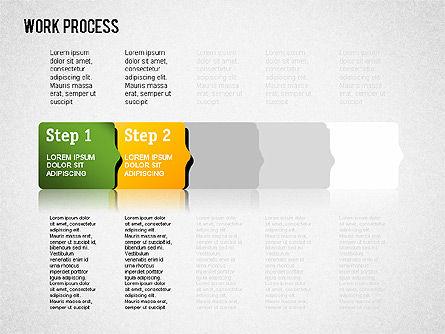 Work Process Steps, Slide 8, 01482, Process Diagrams — PoweredTemplate.com