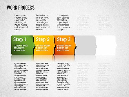 Work Process Steps, Slide 9, 01482, Process Diagrams — PoweredTemplate.com