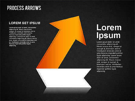 Origami Style Process Arrows, Slide 10, 01484, Shapes — PoweredTemplate.com